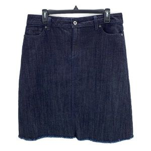 LIZ CLAIBORNE Raw Edge Frayed Hem Denim Skirt